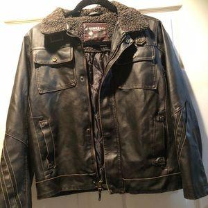 Boys leather jacket. Tony Hawk. Never worn size 8